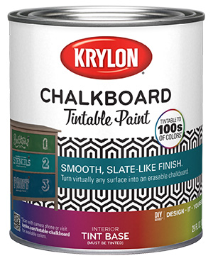 Chalky Finish tintable paint white base can, one quart size