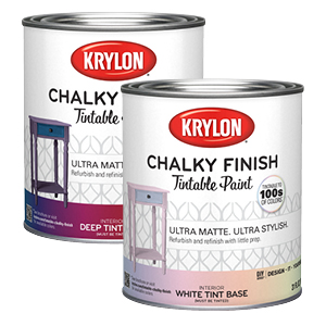 Two Chalky Finish tintable paint white base cans