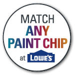 Match any paint chip at Lowe's